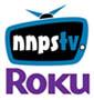 NNPS-TV and Roku logos